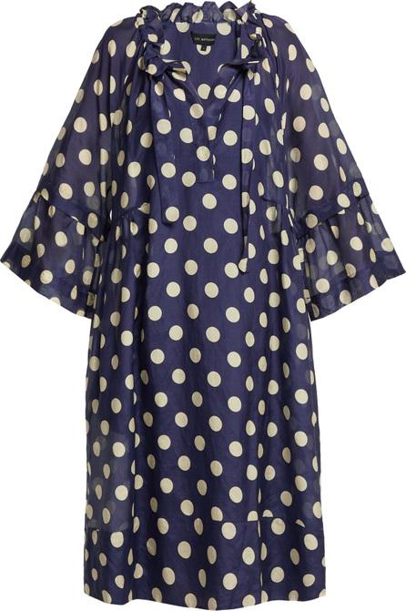 Lee Mathews Minnie cotton and silk-blend dress