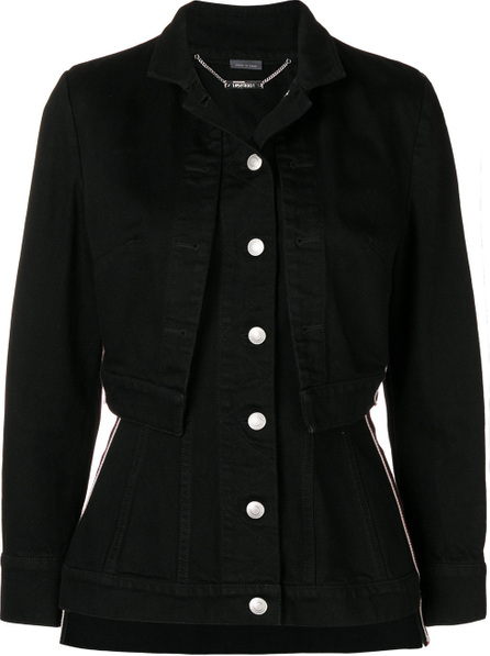 Alexander McQueen Fitted layered jacket