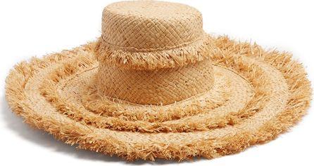 Lola Hats Oasis raffia-pompom hat