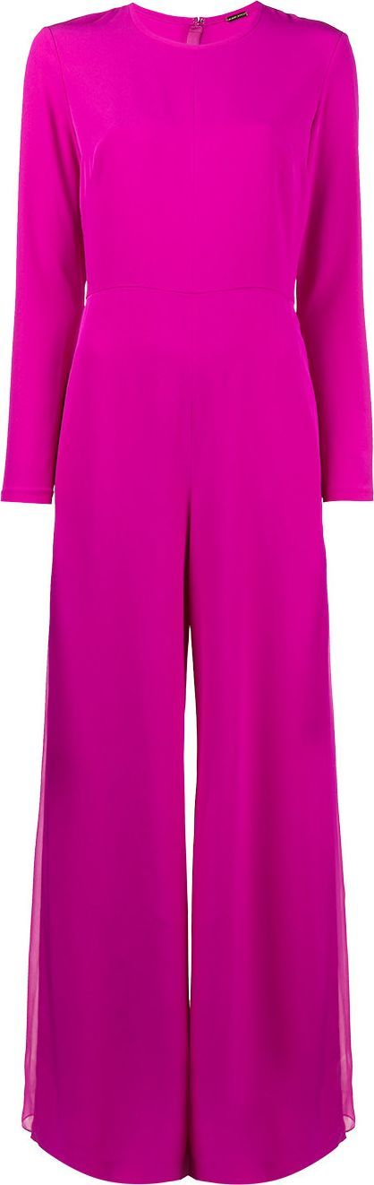 Adam Lippes wide leg long sleeve jumpsuit