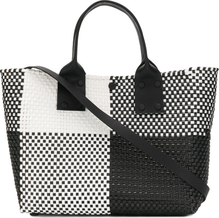 Truss Contrast check top-handle tote