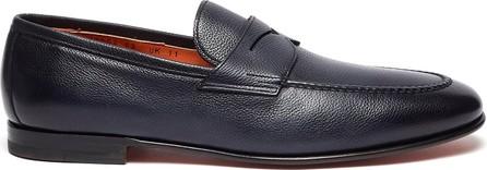 Santoni 'Carlos' flexi grainy leather penny loafers