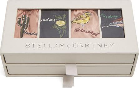 Stella McCartney Embroidered set of seven silk-blend briefs