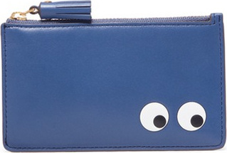 Anya Hindmarch 'Eyes' embossed leather zip card holder
