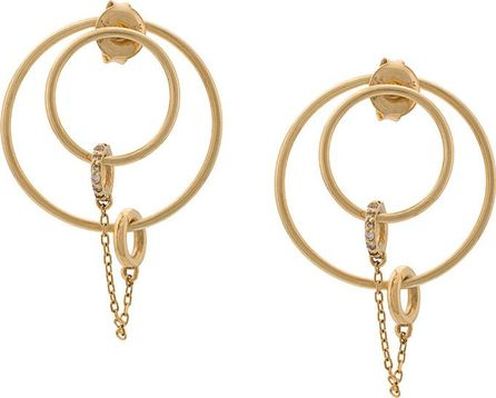 Foundrae Medium Pave Orbit earrings