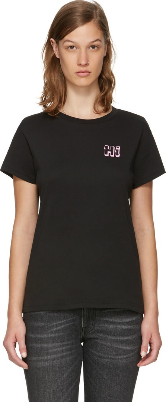 6397 Black 'Hi' Boy T-Shirt
