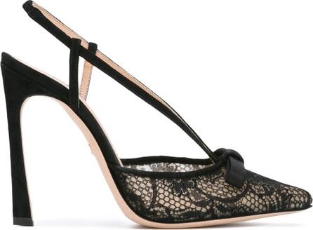 Giambattista Valli sling-back lace pumps
