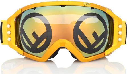 Fendi Mirrored ski goggles