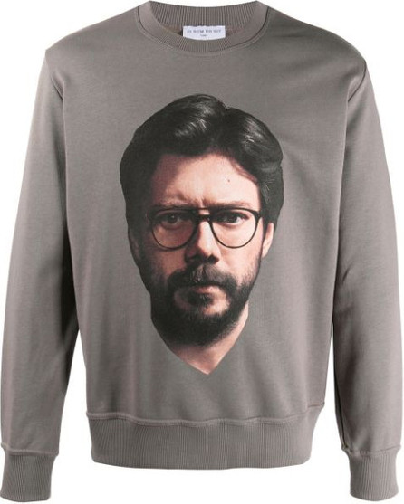 Ih Nom Uh Nit Professor-print cotton sweatshirt