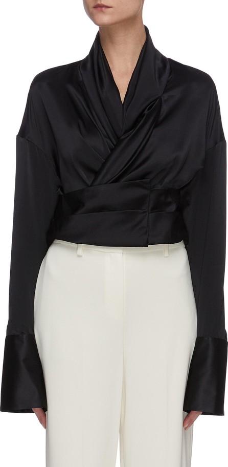 Hellessy Harlow' flare sleeve tie waist silk blouse