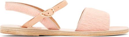 Ancient Greek Sandals Kaliroi leather & calf hair sandals
