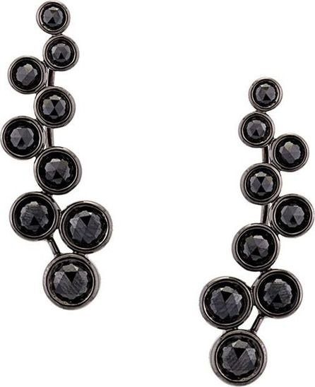 Alinka 'Sasha' black diamond slider earrings
