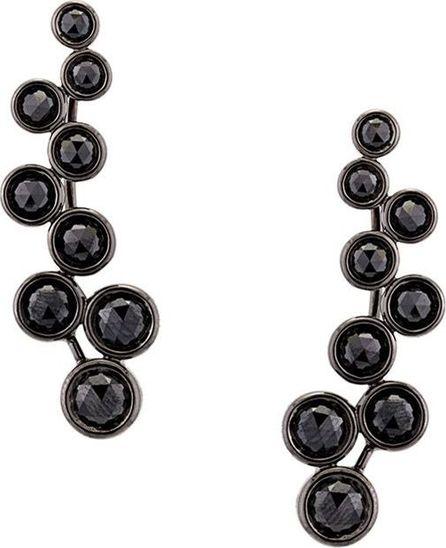 Alinka 'Sasha' black diamond slider earrings