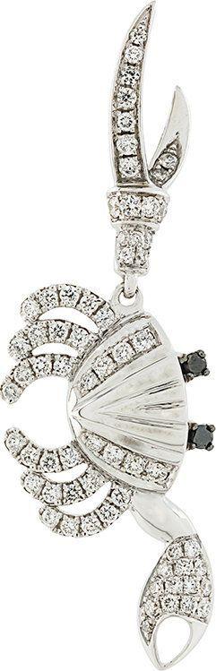 Yvonne Leon embellished drop earring