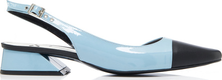 Yuul Yie Two-Tone Patent and Leather Slingback Pumps