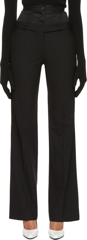 Yang Li Black Wide Double Trousers
