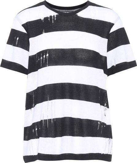 Amiri Distressed cotton and cashmere T-shirt