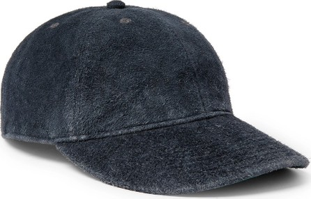 Rrl Roughout Leather Baseball Cap