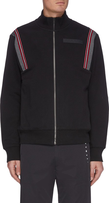 Particle Fever Stand collar shoulder stripe zip jacket