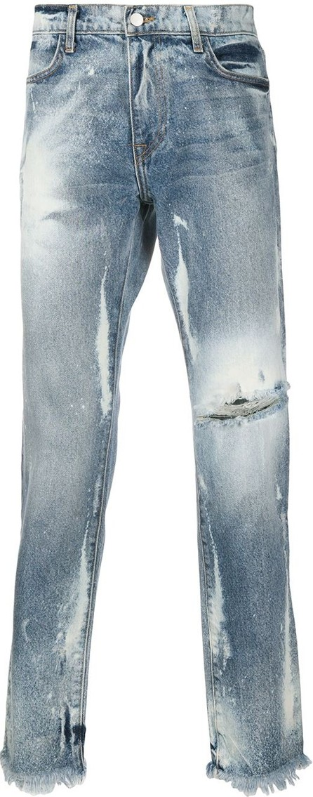 424 Fairfax Marshall bleached effect jeans