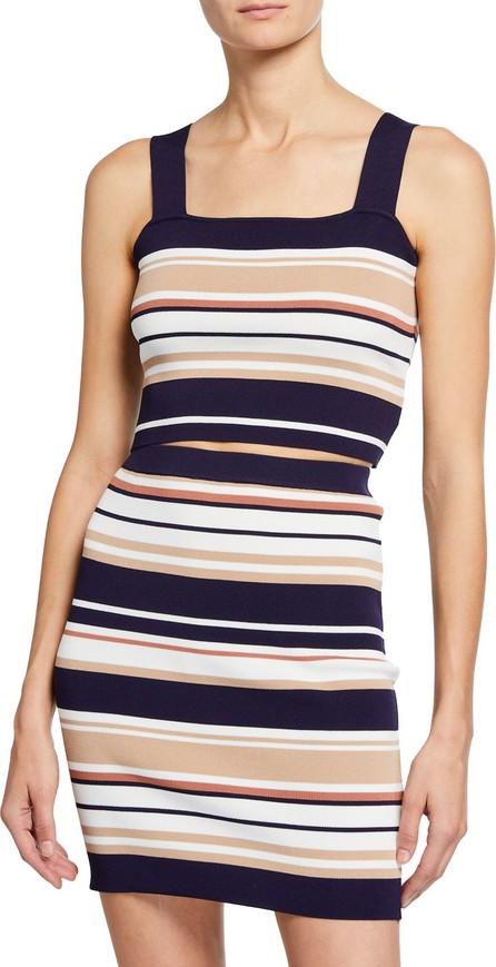 Bardot Multi Stripe Square-Neck Crop Top
