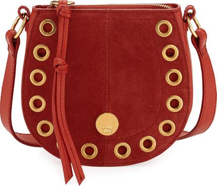 See By Chloé Kriss Mini Grommet Suede Saddle Shoulder Bag
