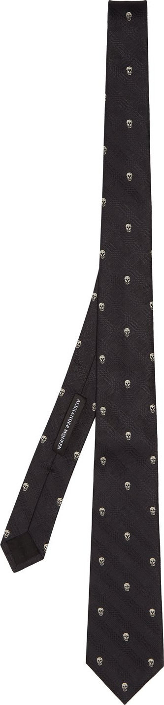 Alexander McQueen Prince Of Wales check and skull tie