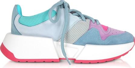 MM6 Maison Margiela Color Block Mesh and Nabuk Sneakers
