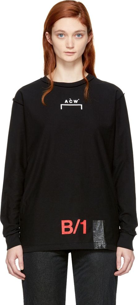 A-Cold-Wall* Black Long Sleeve 'B/1' Tape T-Shirt