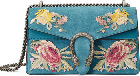 Gucci Dionysus Small Suede Floral Shoulder Bag