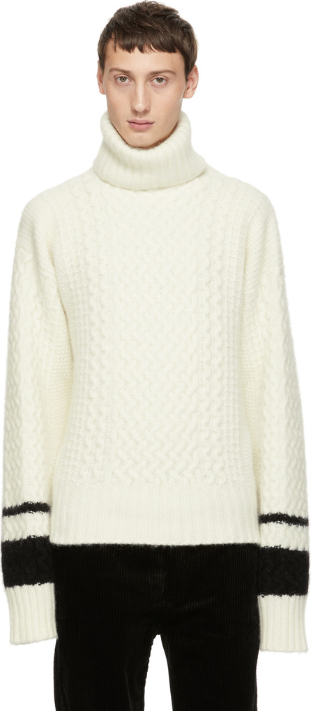 Haider Ackermann White Borago Turtleneck