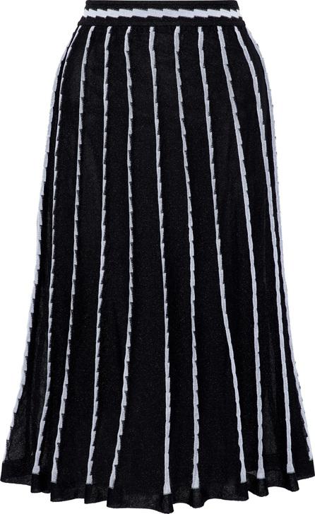 M Missoni Pleated metallic jacquard-knit cotton-blend midi skirt