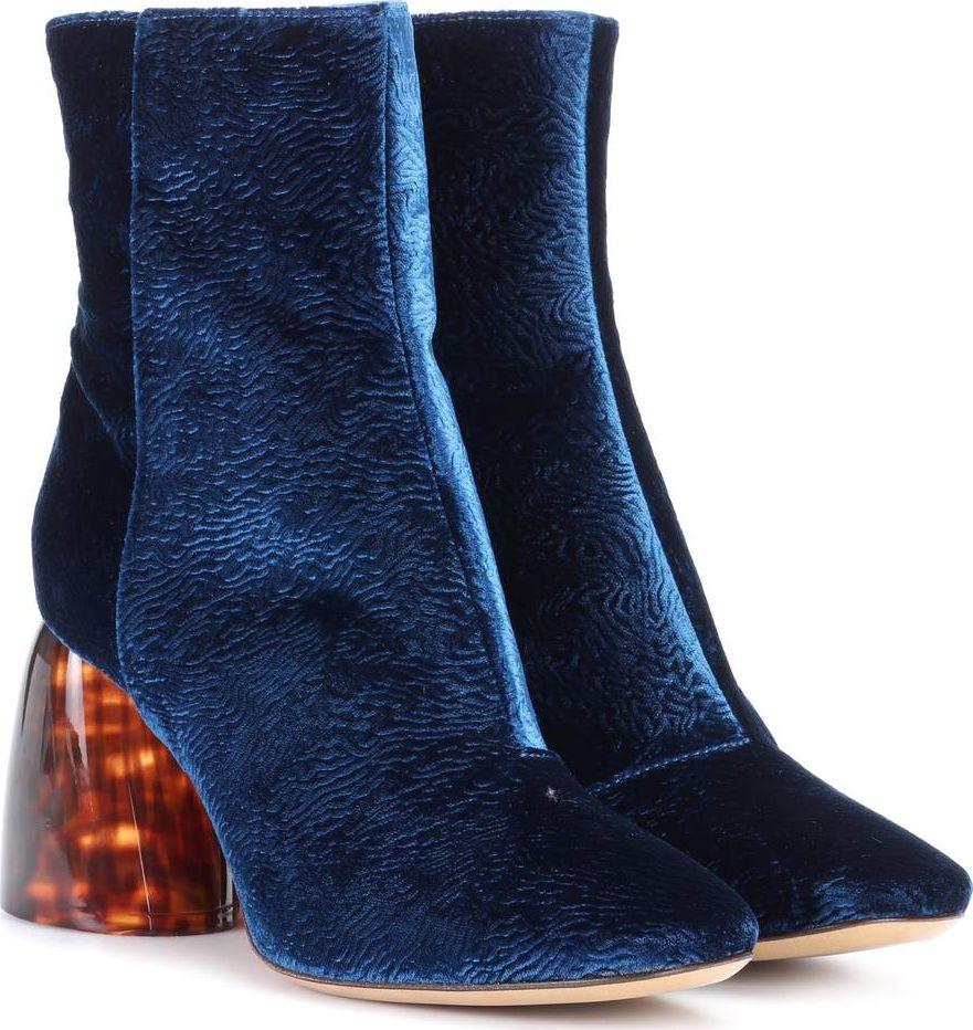 Ellery - Admiral velvet ankle boots