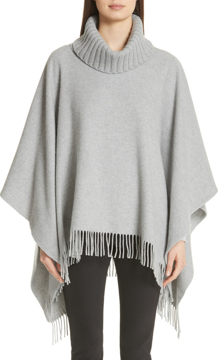 Fabiana Filippi Fringe Trim Wool Blend Cape