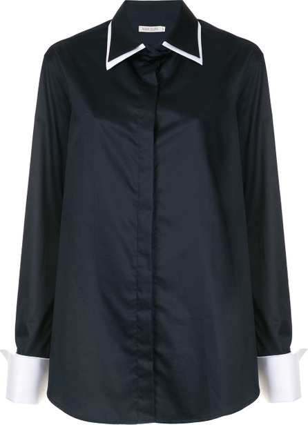 ANNA QUAN Contrast collar shirt