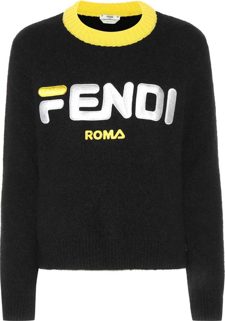 Fendi Embroidered mohair-blend sweater