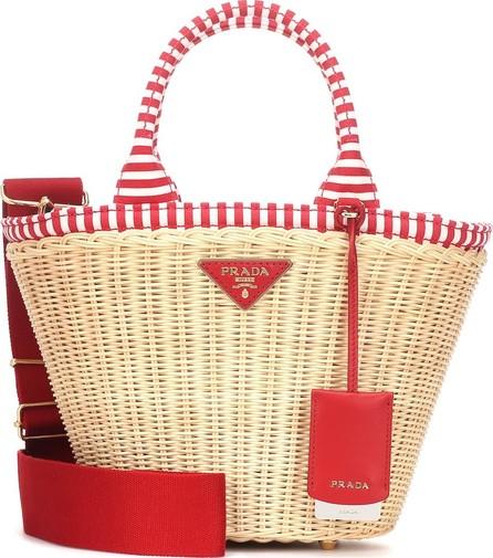 112168cb1d7e Prada Panier Medium straw shoulder bag - Mkt