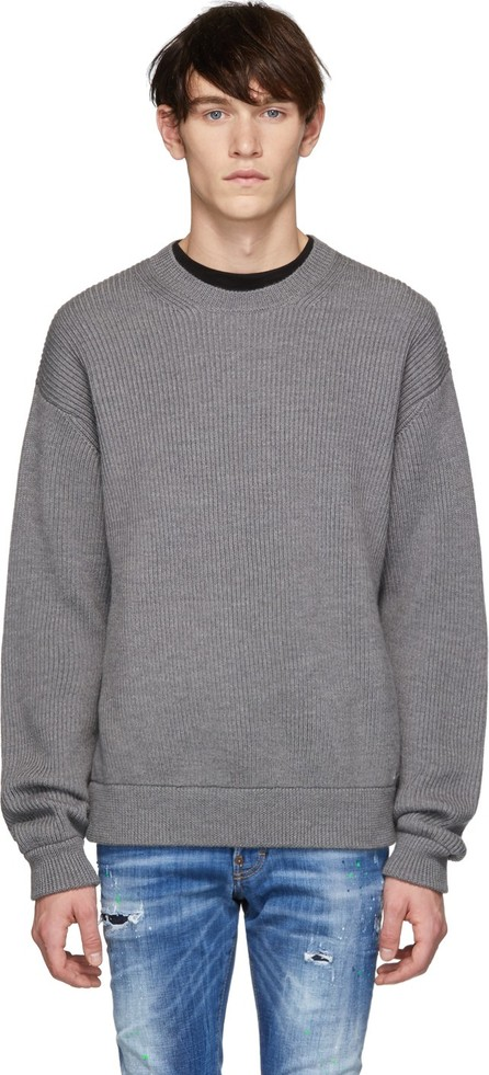 DSQUARED2 Grey Wool Classic Crewneck Sweater