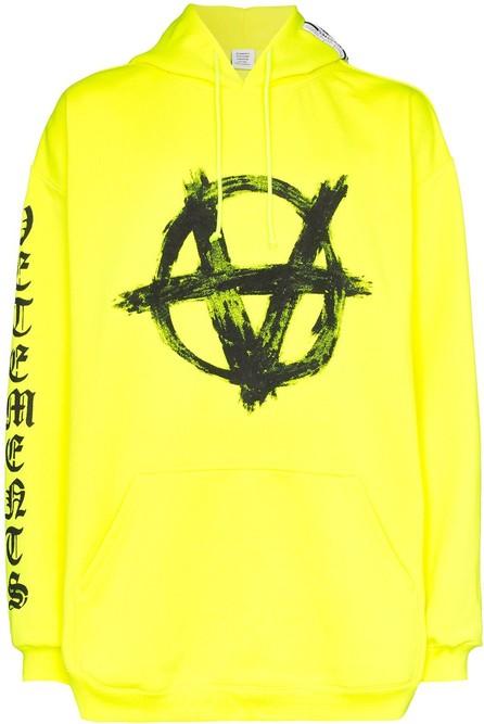 Vetements Anarchy symbol hoodie