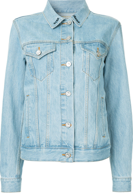 Etre Cecile Tropical embroidery denim jacket