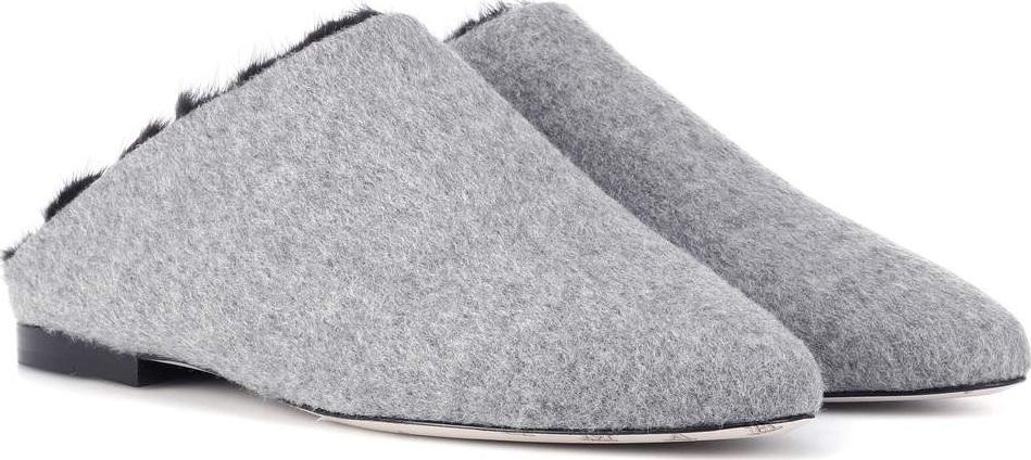 Max Mara Pensile mink fur-trimmed slippers oCIfj9ZnG