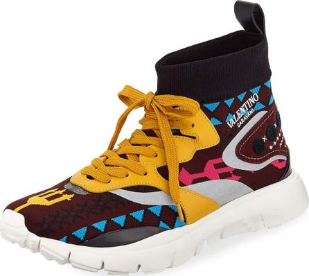 Valentino Men's Multicolor Sock Trainer Sneaker