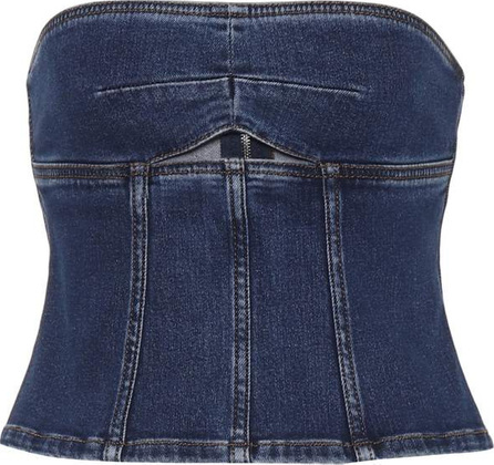 Alexachung Denim bustier top