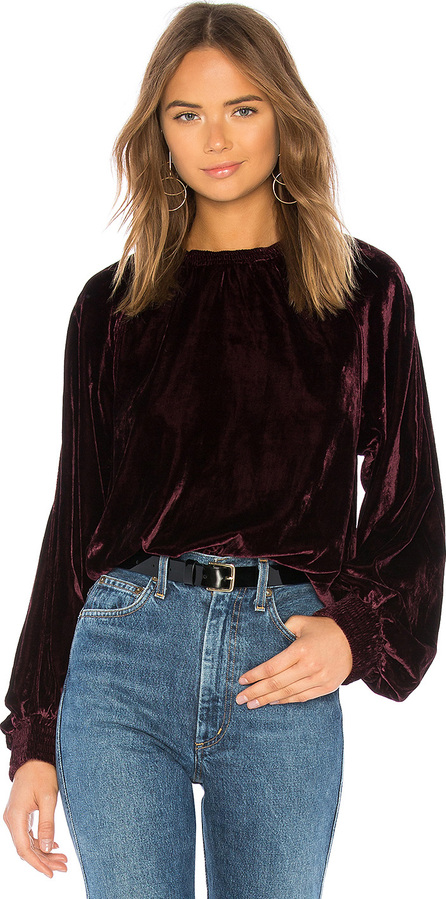 7 For All Mankind Velvet Pullover Sweatshirt