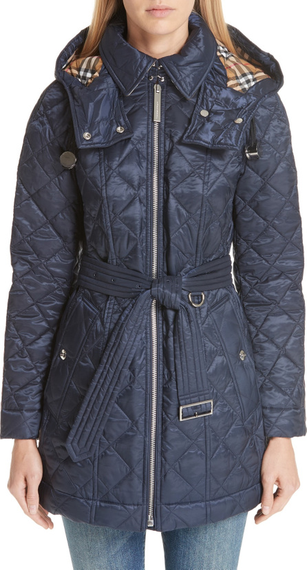 Burberry London England Baughton 18 Quilted Coat