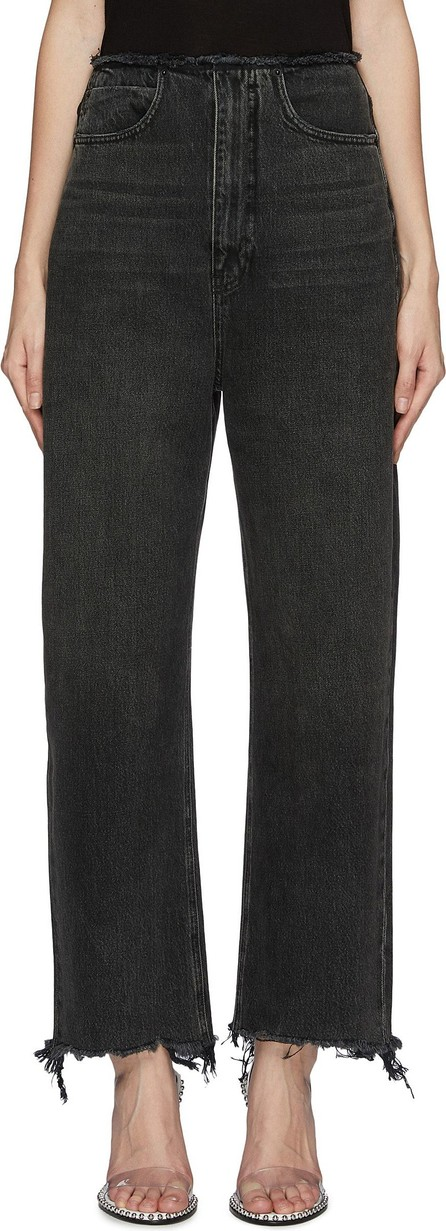 Alexander Wang Raw split cuff wide leg jeans