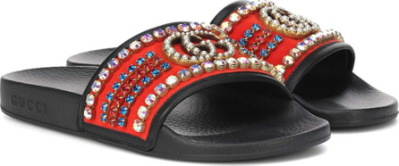 Gucci Crystal embellished slides