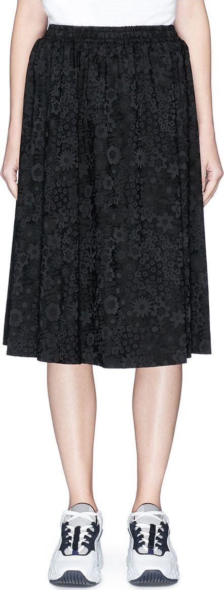 Acne Studios Floral jacquard satin skirt