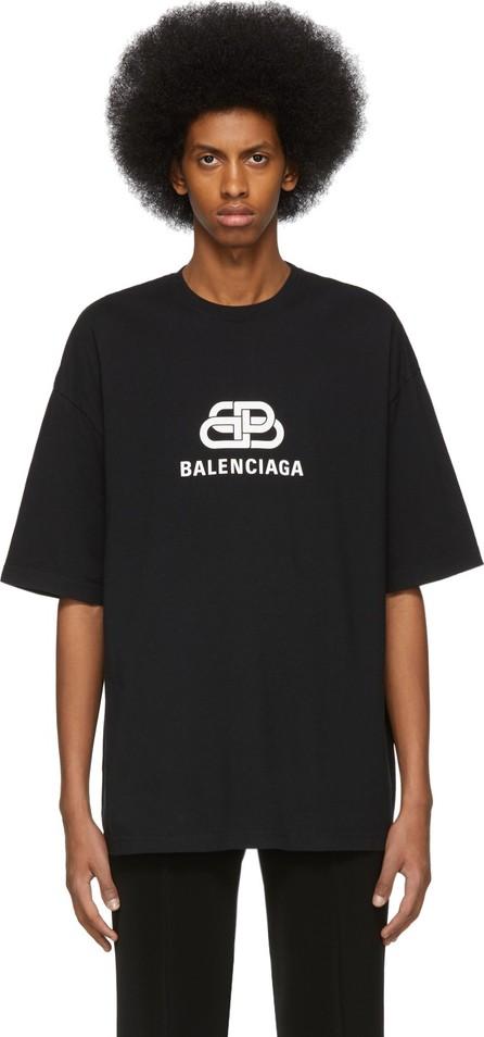 Balenciaga Black 'BB Balenciaga' Regular Fit T-Shirt