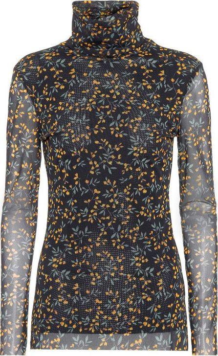 Ganni Tilden floral-printed mesh top